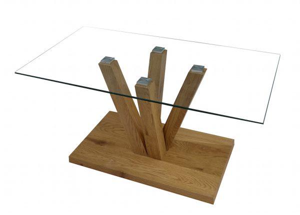 Стеклянный журнальный стол модель 734