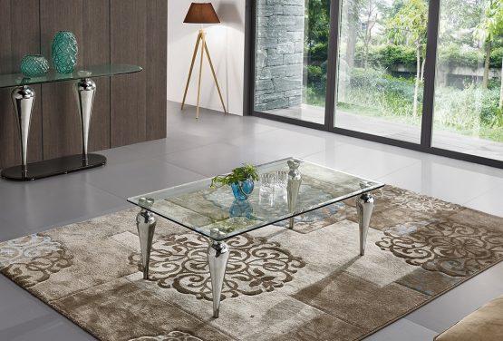 Журнальный стол с прозрачным стеклом модель-946