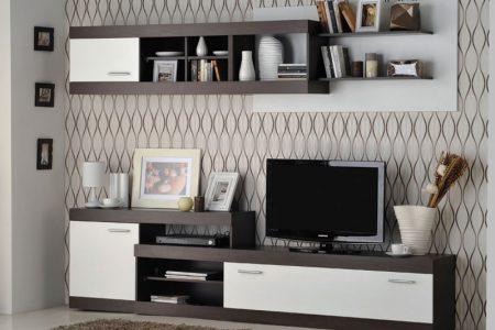 מזנון מודרני לסלון דגם GABI-ונגה כולל מדף תליה