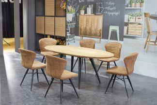 פינת אוכל דגם OSLO נפתחת כולל 6 כסאות