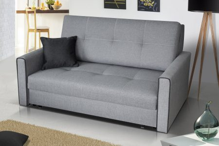ספה דו-מושבית נפתחת למיטה עם ארגז מצעים