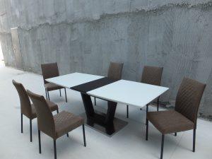 פינת אוכל יוקרתית ונפתחת עם 6 כסאות דגם MODERN