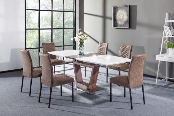 Большой обеденный стол с 6 стульями модель MODERN