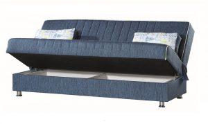 ספה נפתחת למיטה דגם TAMAR-BLUE עם ארגז מצעים