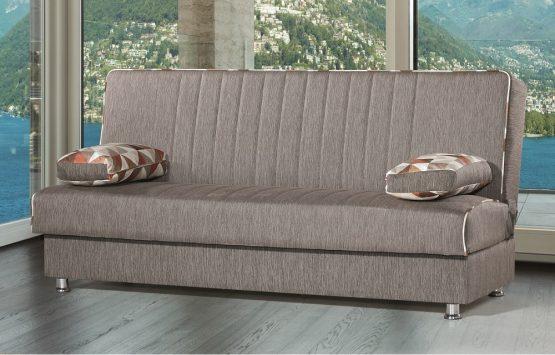 ספה אירוח דגם TAMAR-01 בד חום