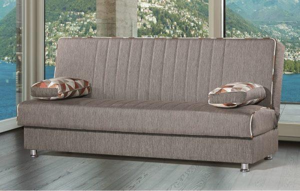 Диван-кровать модели TAMAR коричневого цвета