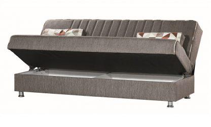 ספה נפתחת עם ארגז דגם TAMAR מעוצבת בד חום