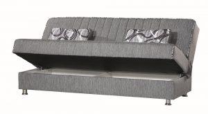 ספת אירוח נפתחת למיטה דגם TAMAR-GRAY עם ארגז מצעים