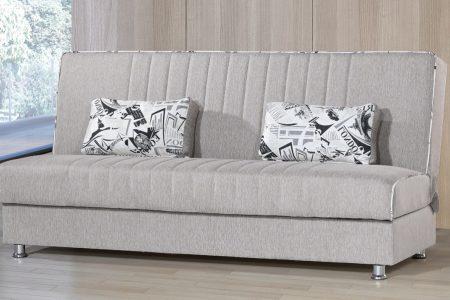 ספה דגם TAMAR נפתחת למיטה מעוצבת בד אפור בהיר