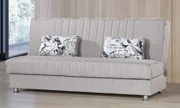 ספה דגם TAMAR נפתחת למיטה מעוצבת בד בז'