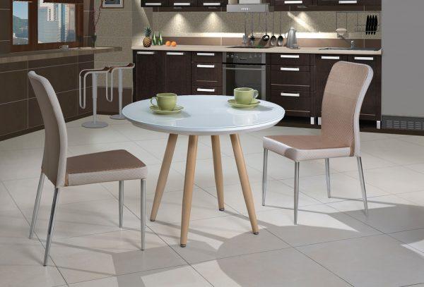 Круглый маленький столик для кухни модель-25