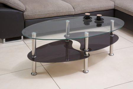 שולחן סלון מעוצב זכוכית דגם 801-ונגה