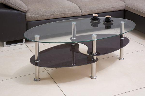 Кофейный столик из стекла модель 801-венга