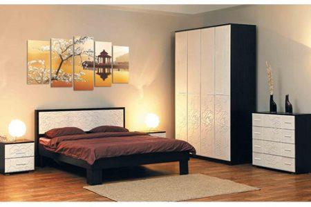 חדר שינה מעוצב קומפלט ROSE-VENGE