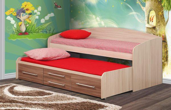 מיטה לילדים עם מיטת חבר דגם NICK