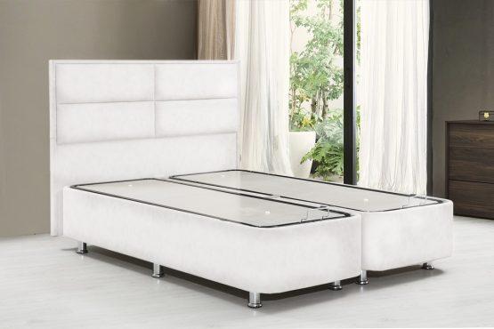Кожаная двухспальная кровать 160/200 модель OSTIN