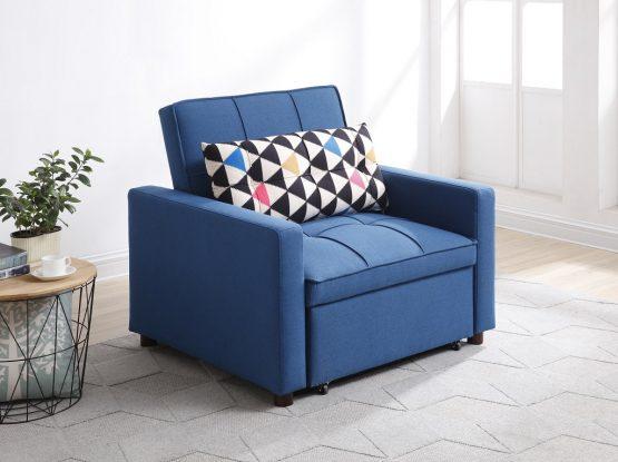 כורסא נפתחת למיטה דגם DALIA-BLUE