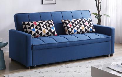 ספה נפתחת למיטה זוגית גדולה דגם AMOS-BLUE