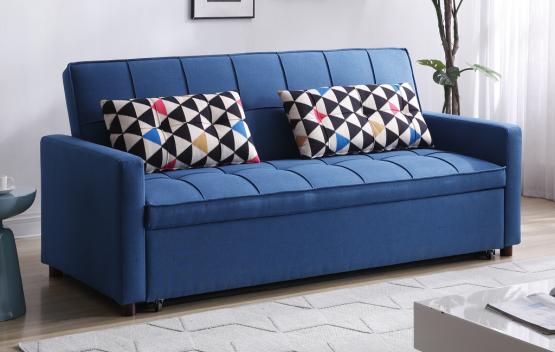 Диван с огромной кроватью 190/190 модель AMOS-BLUE