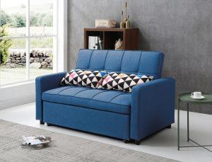 ספה דו מושבית נפתחת למיטה זוגית דגם DALLAS-BLUE