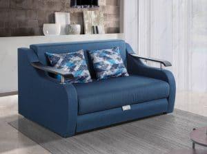 Двухместный диван кровать модель DALLAS-BLUE