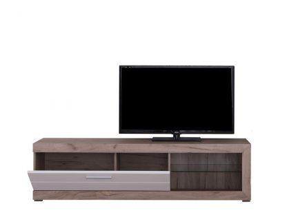 שידת טלוויזיה קטנה דגם RUNO בצבע עץ בהיר