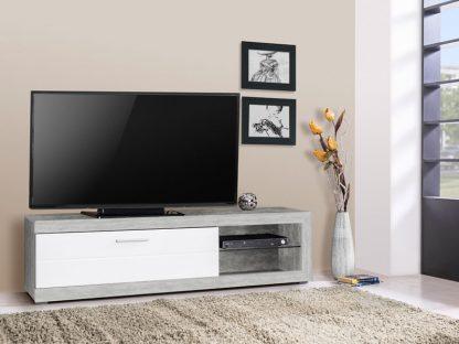 שידה לטלוויזיה מודרנית דגם RUNO בצבע אפור בטון