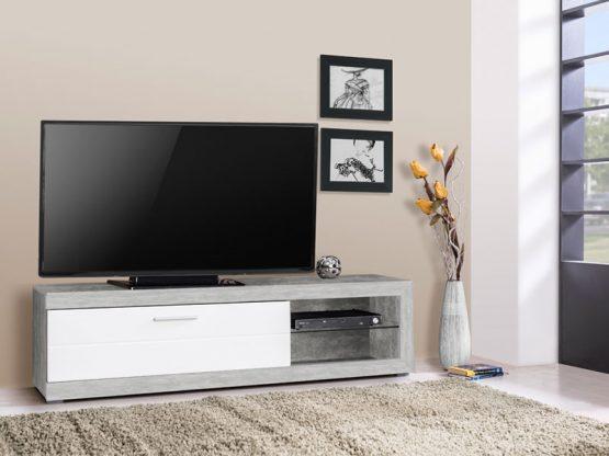 מזנון טלוויזיה אפור לבן דגם RUNO