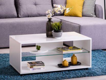 שולחן סלוני לבן דגם-184