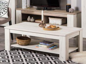 שולחן לסלון מעץ לבן דגם-513