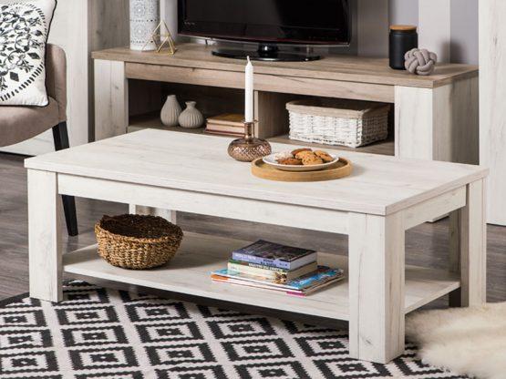 Журнальный стол из белого дерева модель-513
