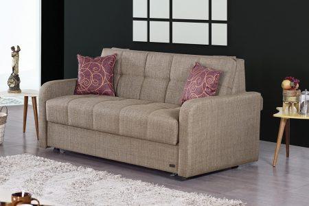 ספה דו מושבית נפתחת למיטה זוגית דגם ALPEN-BROWN