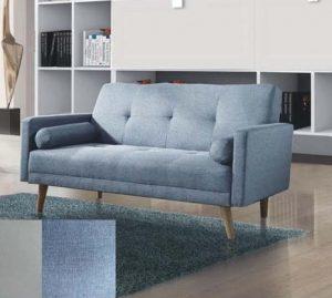ספה דו מושבית דגם NIKA-2 בד תכלת