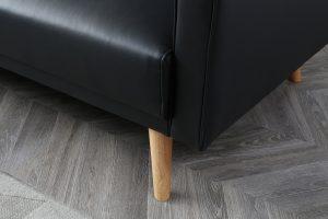 ספה פינתית דמוי עור נפתחת למיטה דגם MARIA-BLACK