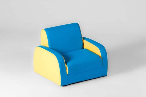 Детское кресло голубое раскладывается