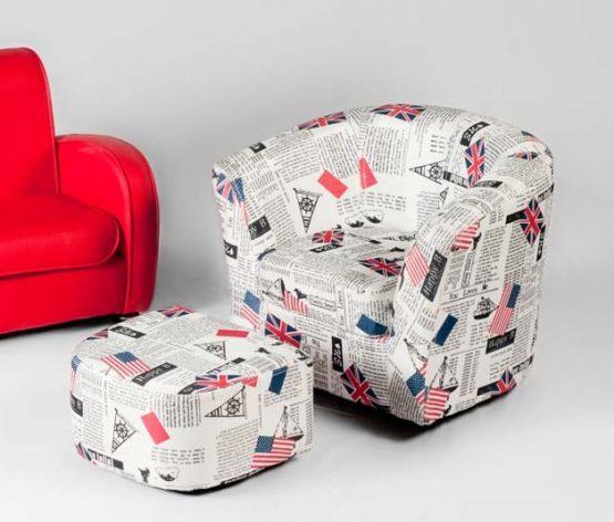 כורסא מעוצבת לילדים עם הדום
