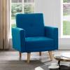 כורסא מעוצבת NIKA-1 בד כחול