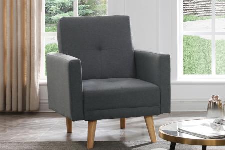 כורסא מעוצבת NIKA-1 בד אפור