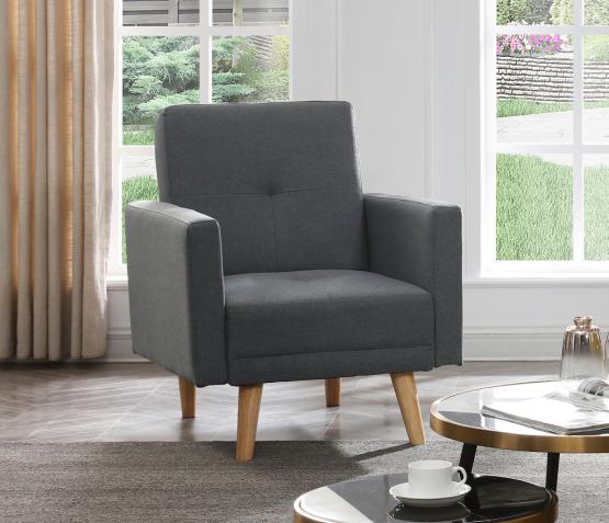 Модное кресло серого цвета модель NIKA-1