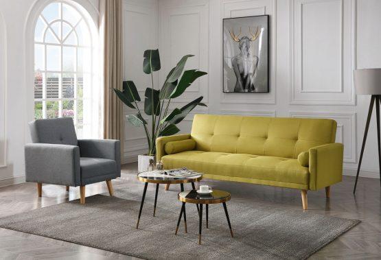 סט ספה וכורסא תואמות דגם NIKA