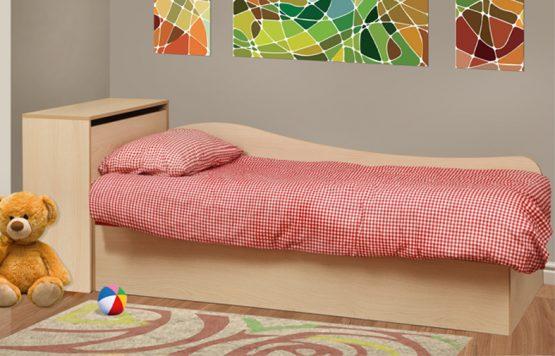 מיטה יחיד עם ארגז מצעים דגם AVIV