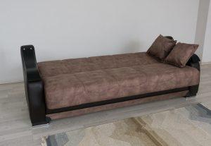 ספה מפוארת בצבע חום דגם BELLA נפתחת