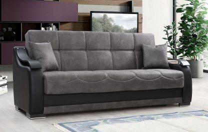 ספה מפוארת נפתחת דגם BELLA צבע אפור
