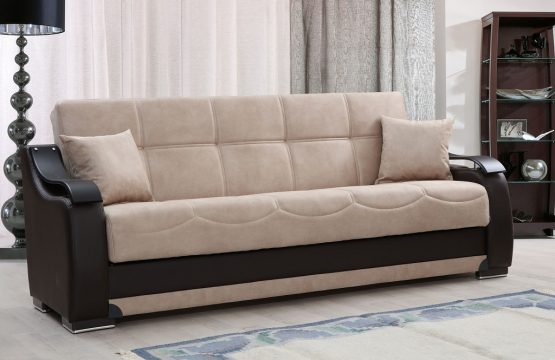 Роскошный раскладной диван модель BELLA бежевый