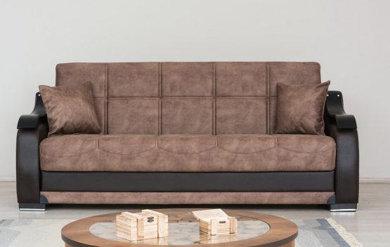 Роскошный раскладной диван модель BELLA коричневый