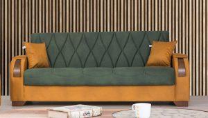 ספה מודרנית ירוקה דגם LORD נפתחת למיטה