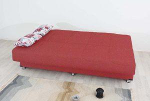 ספת אירוח עם ארגז מצעים דגם Tomer בד אדום