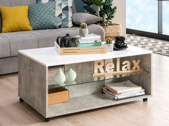Серый журнальный стол модель 183