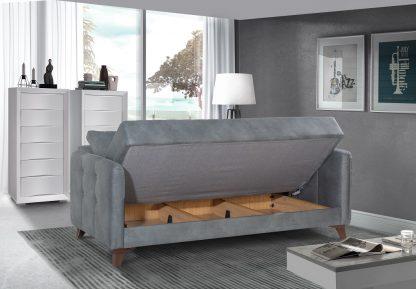 ספה מפוארת נפתחת למיטה דגם LONDON