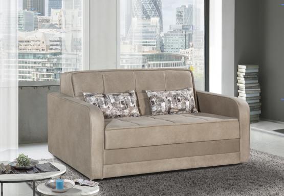 Двухместный раскладной диван модель ALPEN-бежевый